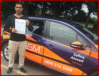 Driver Test Pass For D Souza