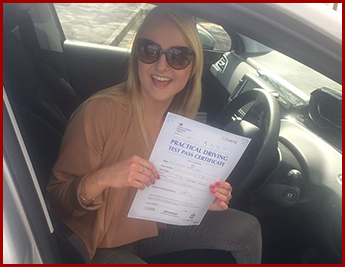 Driver Test Pass For Megan