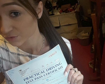 Driver Test Pass for Shann Mae